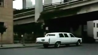 Classical Limo Getting Off