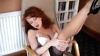 Redheaded Mummy In Retro Undergarments