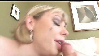 Chesty Blonde An Filthy Gullet Face Fuck Gulp