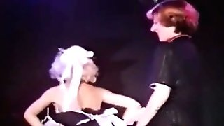Two Sexy Glamourgirls Antique Striptease In A Night Club Two